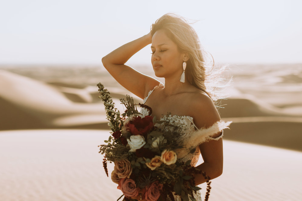 imperial sand dunes destination styled elopement wedding