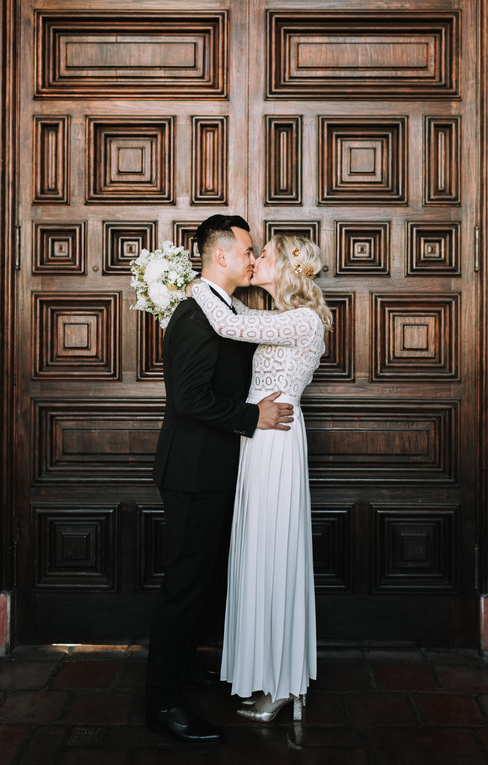 Jaime and Michael Santa Barbara Courthouse Mural Room Wedding Getting ready at hotel californian in sb with el paseo reception to follow vanessa todd photographer