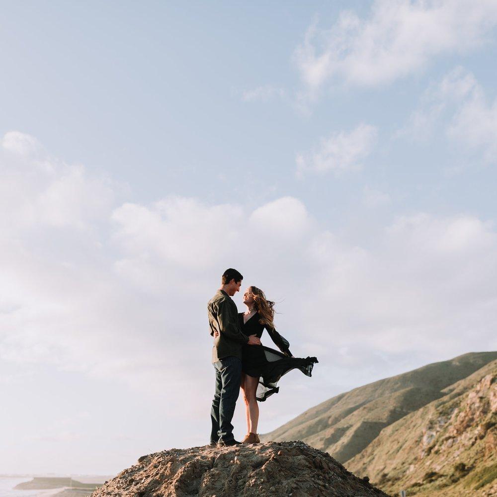 Kiana and Adam couples session at point mugu state park in malibu ca southern california los angeles