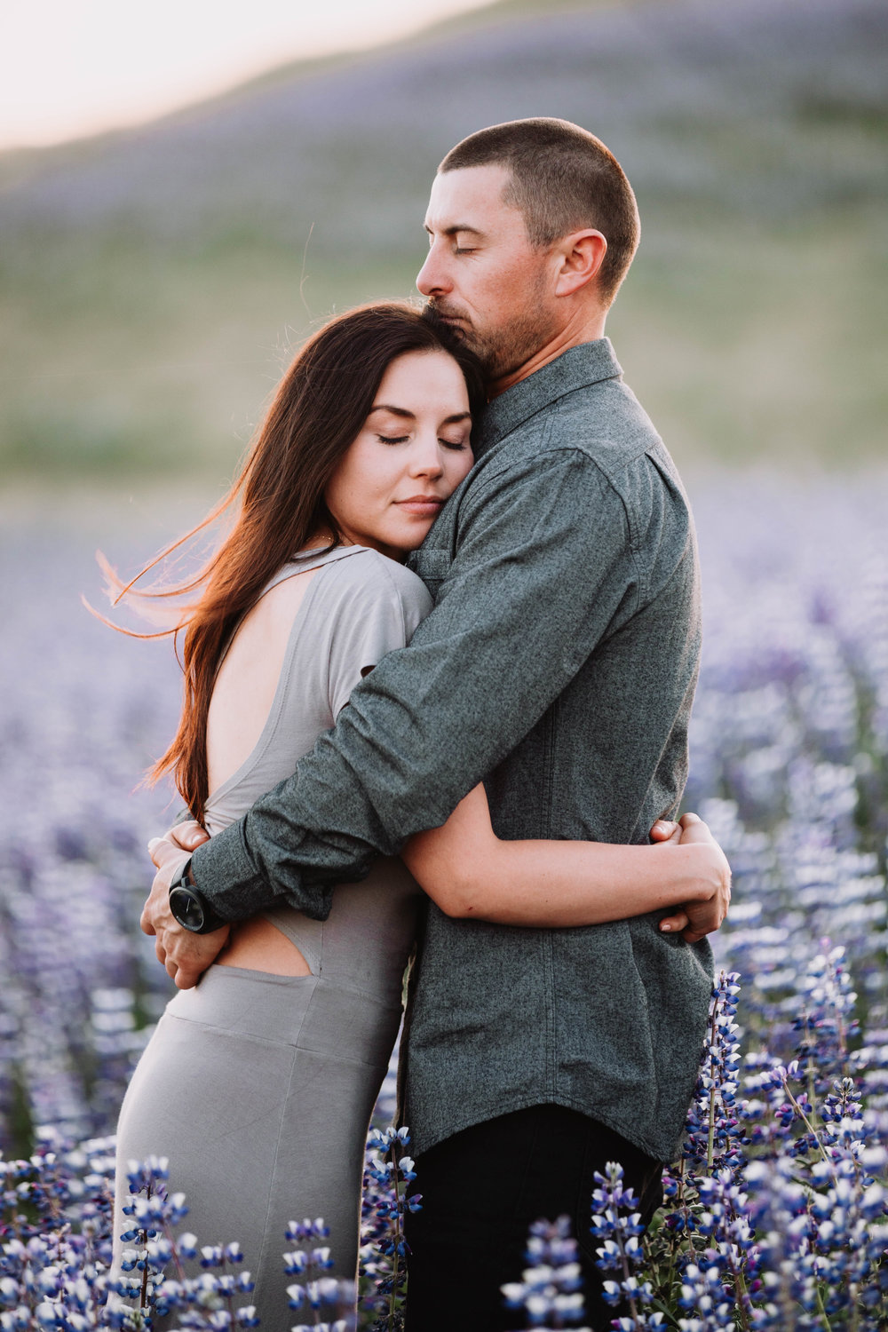 EngagementAllie + Matt - California Super-bloom hillsides that remind you of June in Iceland, where the Lupines grow fast and wild as far as the eye can see.