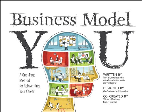 Business Model You by Tim Clark - The global bestseller Business Model Generation introduced a unique visual way to summarize and creatively brainstorm any business or product idea on a single sheet of paper. Business Model You uses the same powerful one-page tool to teach readers how to draw