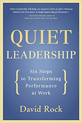 Quiet Leadership by David Rock - Improving the performance of your employees involves one of the hardest challenges in the known universe: changing the way they think. In constant demand as a coach, speaker, and consultant to companies around the world, David Rock has proven that the secret to leading people (and living and working with them) is found in the space between their ears. Supported by the latest groundbreaking research, Quiet Leadership provides a brain-based approach that will help busy leaders, executives, and managers improve their own and their colleagues' performance. Rock offers a practical, six-step guide to making permanent workplace performance change by unleashing higher productivity, new levels of morale, and greater job satisfaction.