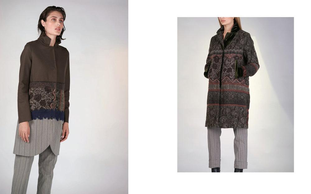 LEFT: jacket TOSCA 27134-07 | pants ULF 27133-43  RIGHT: jacket AMORE 27110-07 | pants ULF 27133-43