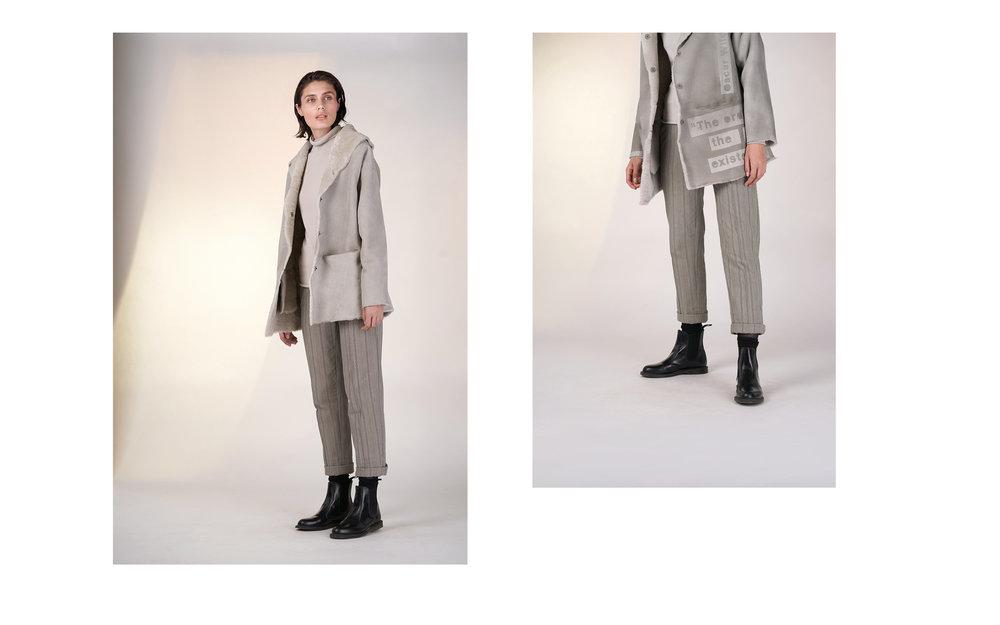 LEFT: jacket EXIL 27906-40 | jumper CITY 27501-40 | pants ULF 27133-43  RIGHT: jacket EXIL 1 27906-40 | jumper CITY 27501-40 | pants ULF 27133-43
