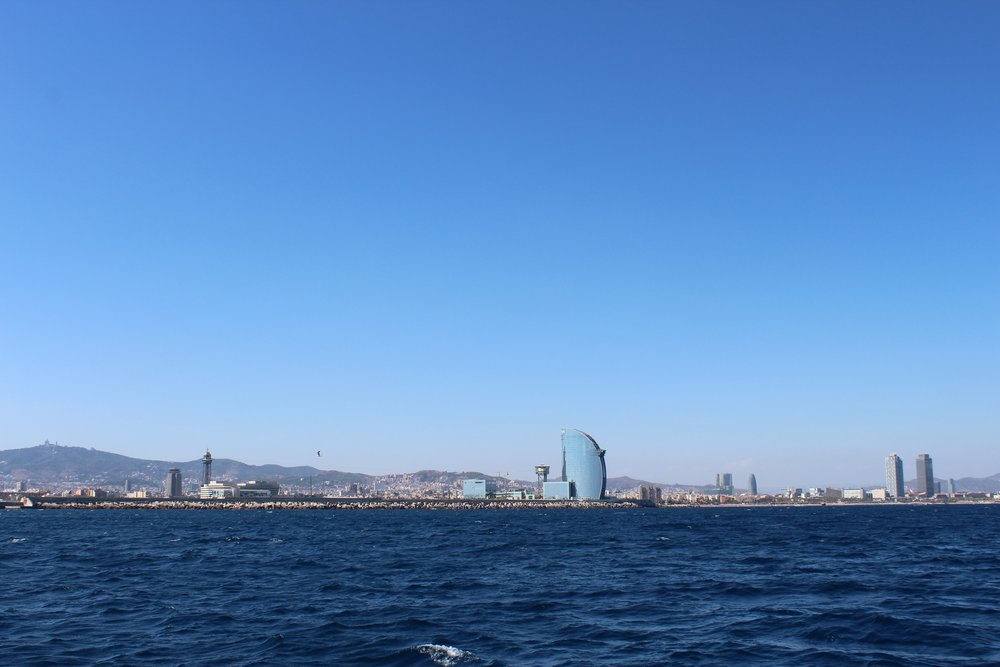 Views of Barcelona while cruising in the Mediterranean Sea. NBD.