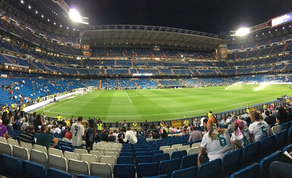 Last day before heading home! Madrid vs. Valencia game in Madrid.