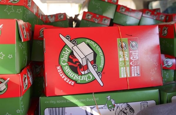 Operation Christmas Child - Shoeboxes filled with necessities and gifts for children across the world around Christmastime.