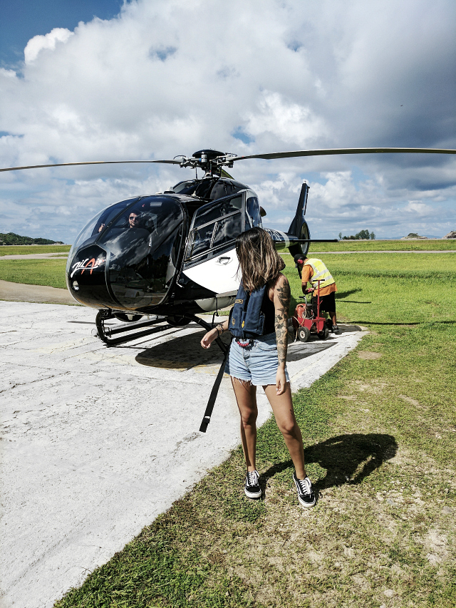 - Another activity I ended up loving was a helicopter ride of the the Seychelles Island. Believe me when I say I was speechless at what mother nature had created. It was also my first time in a helicopter and it was such an incredible experience. I would recommend doing this when you visit Seychelles! You get to see everything and even maybe some dolphins!