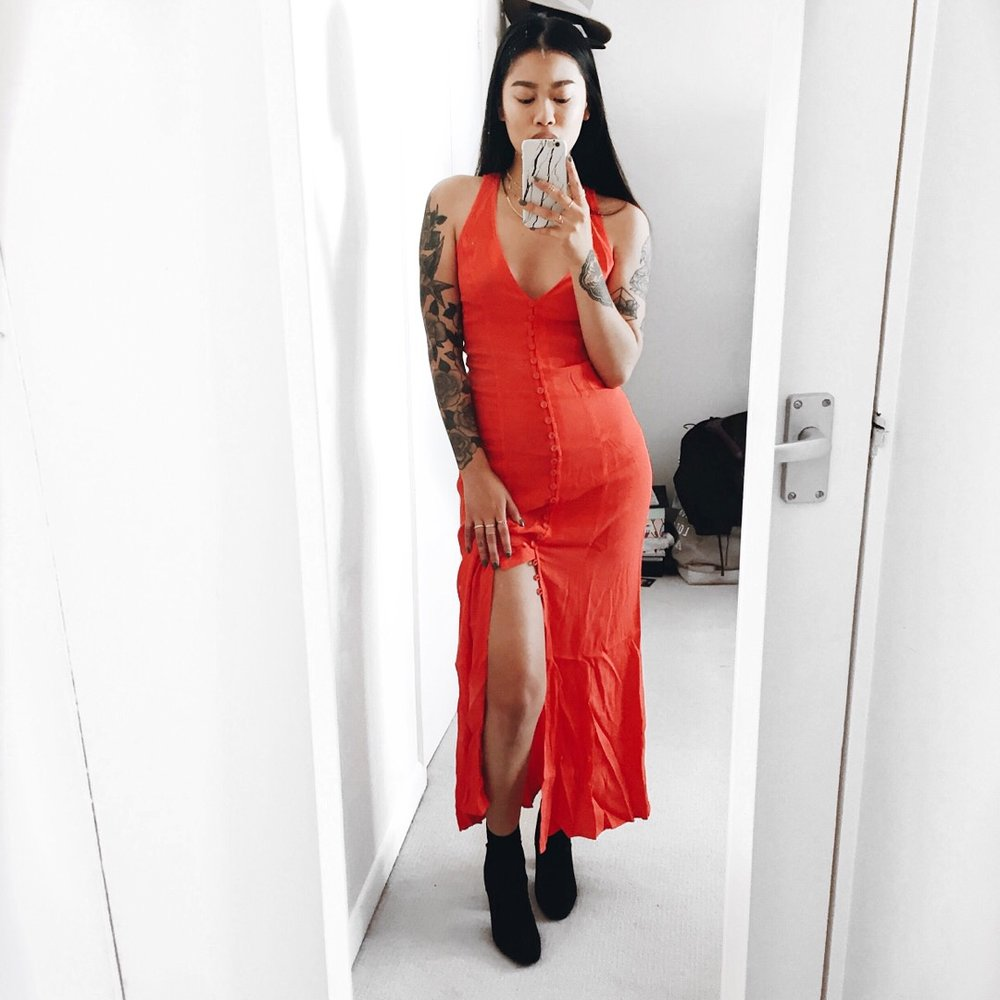 BE BOLD IN RED! - Privacy please dress via RevolvePublic Desire boots