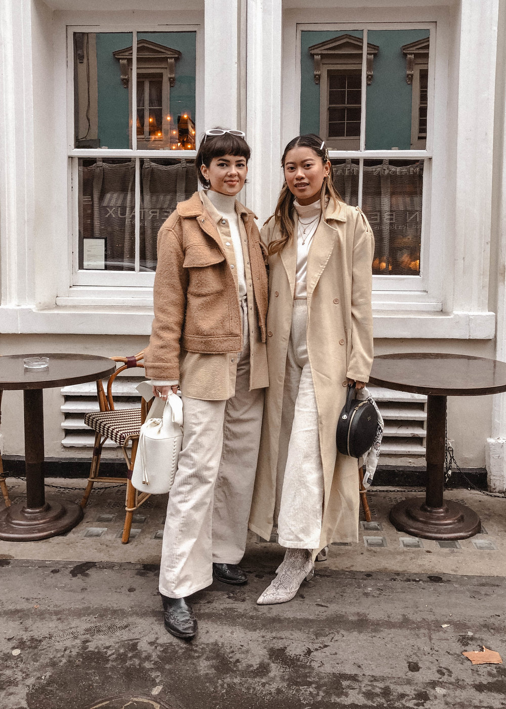 Chloe & I unintentionally matched our outfits on this day. Couldn't been any more perfect with the tones, fabrics and textures! -