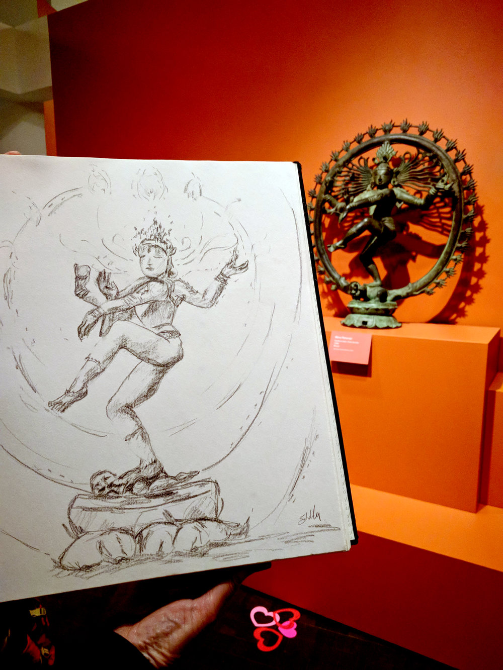 "Shelly taking inspiration from ""Shiva Nataraja,"" Southern India, 1200s"