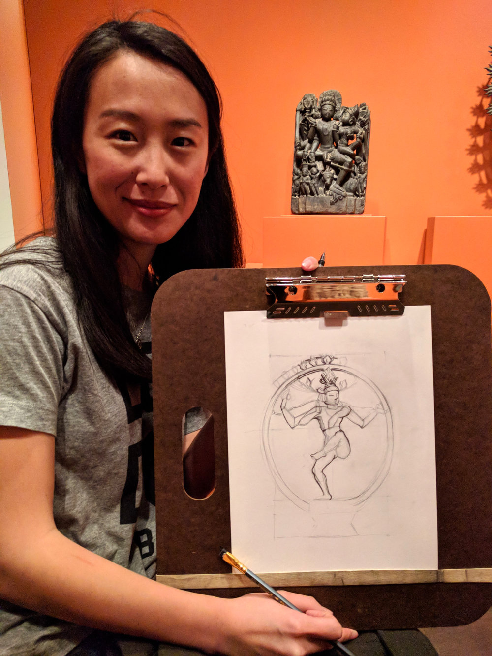 "Katherine Wang also taking inspiration from ""Shiva Nataraja"""