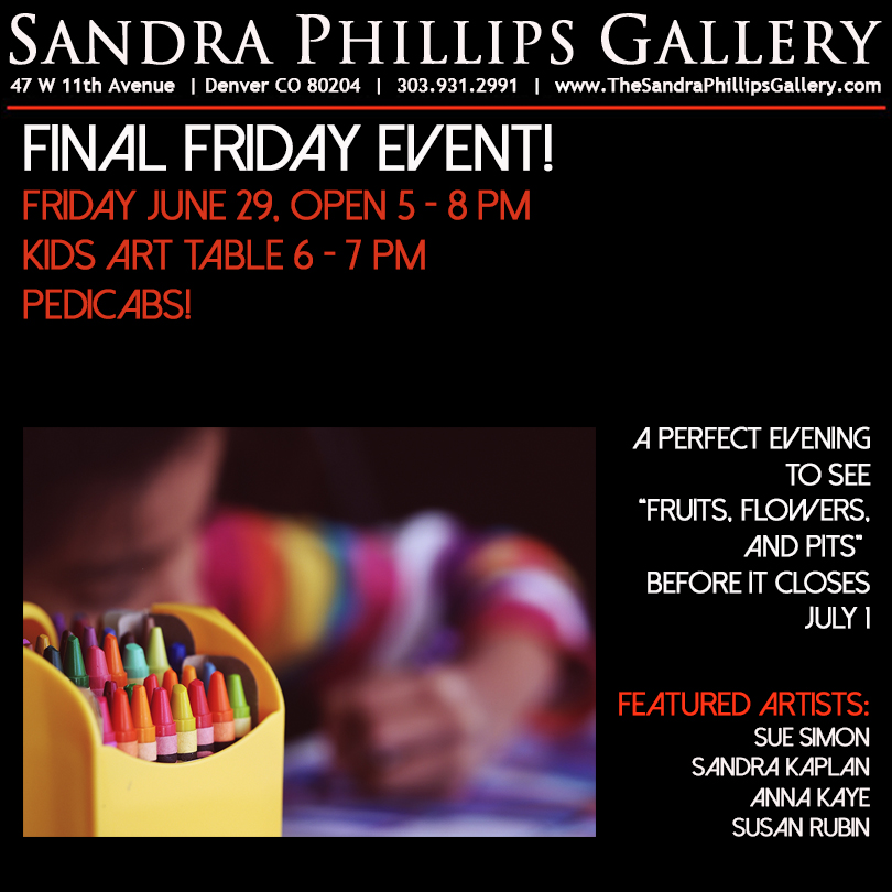 Final Friday Art Table - It's Final Friday in the golden triangle! The galleries will be open late, come see