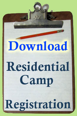 Download a Registration form for the Residential Camp -