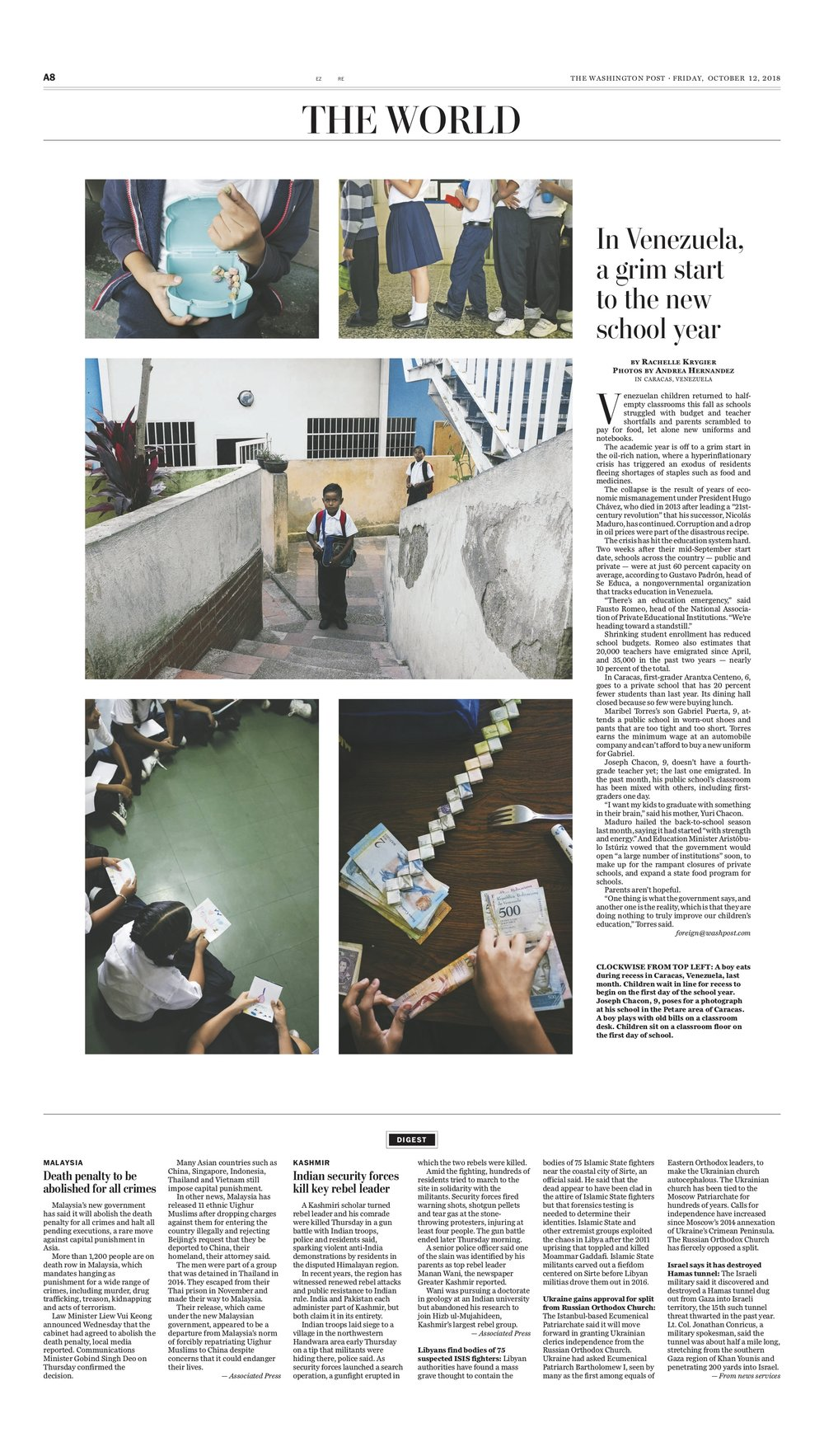 The Washington Post Back to School Print