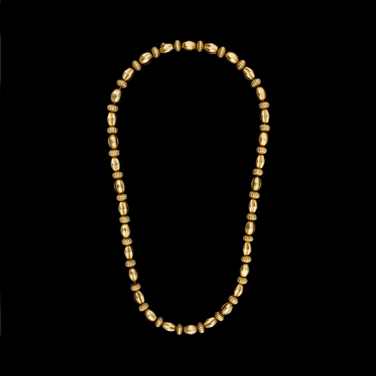 Lalaounis Yellow Gold Bead Necklace — JS Jewels