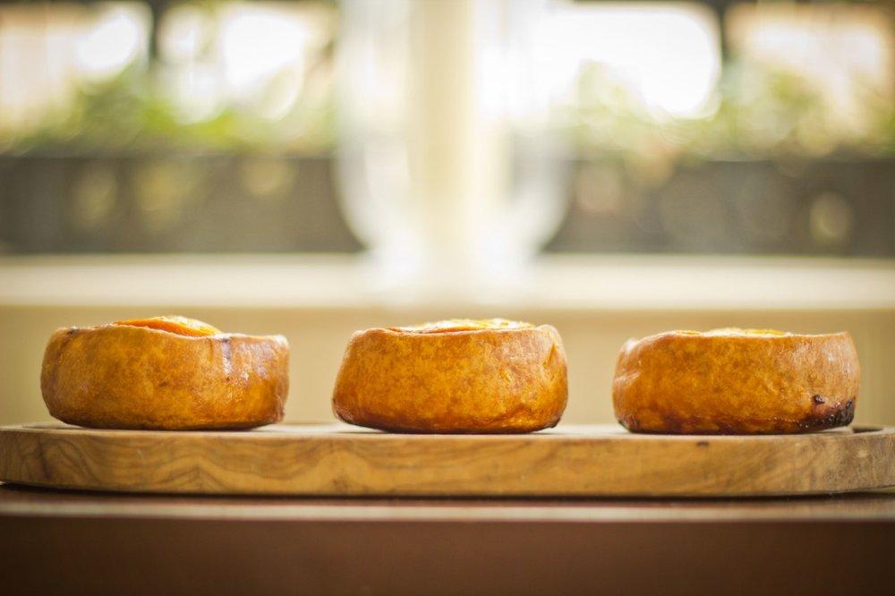 Duck Frites, Duck, pork & orange pie