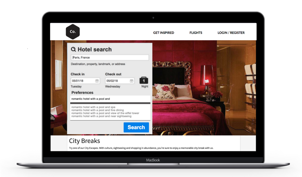 Imagine if your customers could tell you exactly what they want… - Leverage natural language search to capture and understand what travelers care about most for the trip they're taking, in their own words.