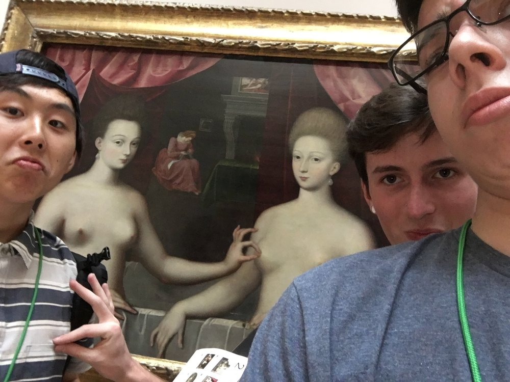 Pictured (left to right): Chris Kim, Me + Matthew Tennery