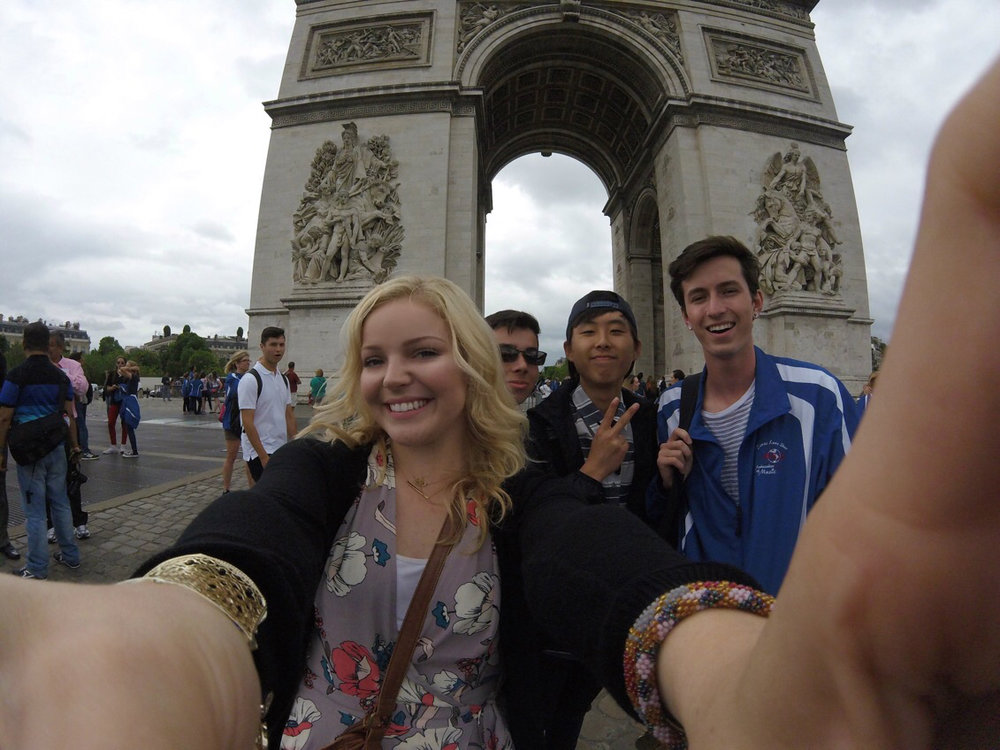 Pictured (left to right): Sarah Prince, Matthew Tennery, Chris Kim + Me