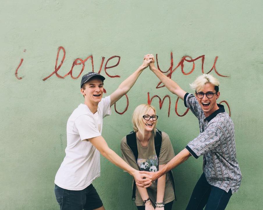 Pictured (left to right): Jordan Hughes, Katie Cox + Me