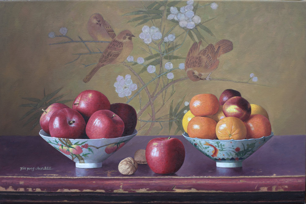 Fruit and birds