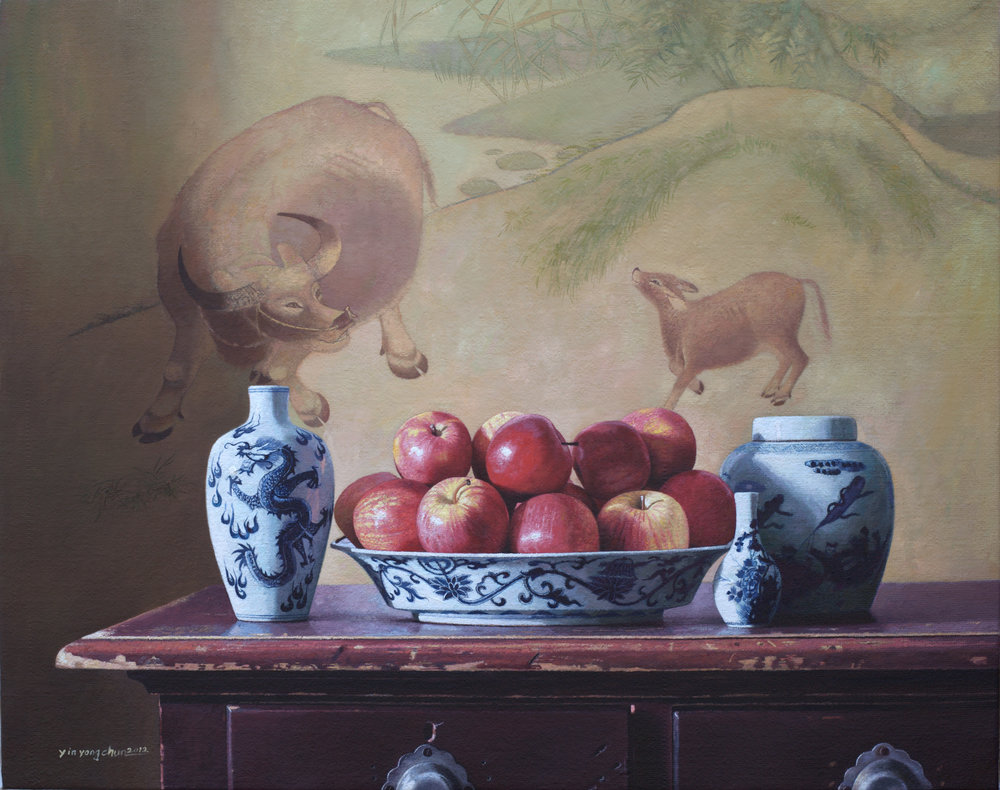 Buffalo and apples