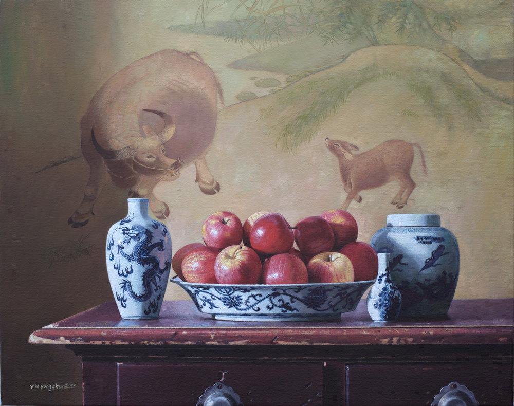 Buffalo and apples