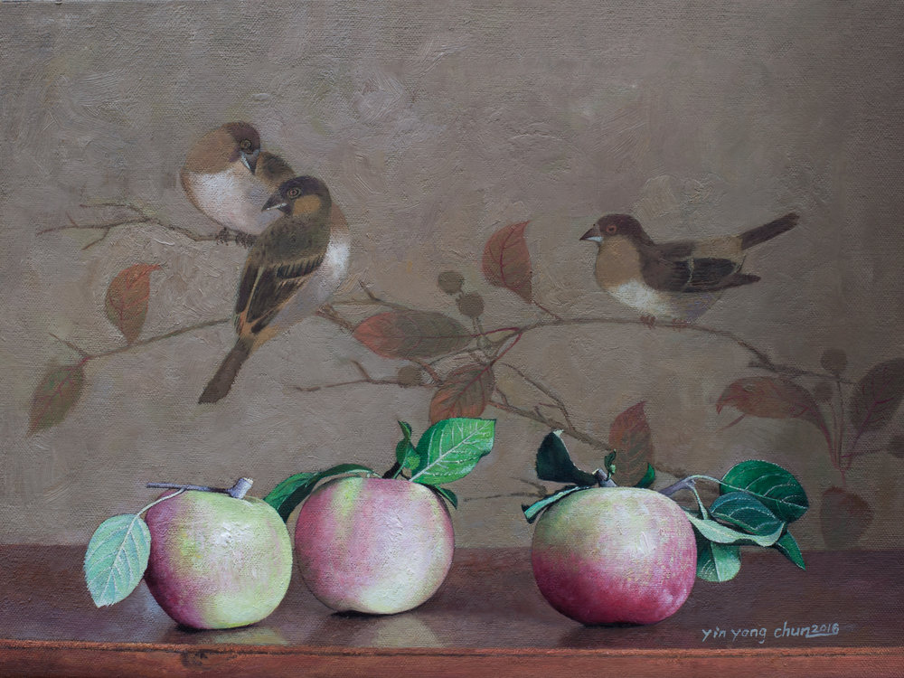 Apples and birds