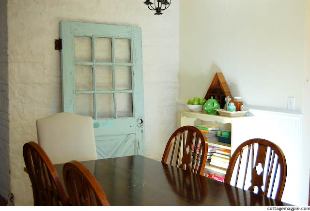 Dining Room With Old Salvaged Door