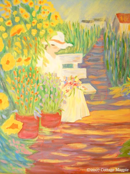 A Thrifted Garden Painting via cottagemagpie.com