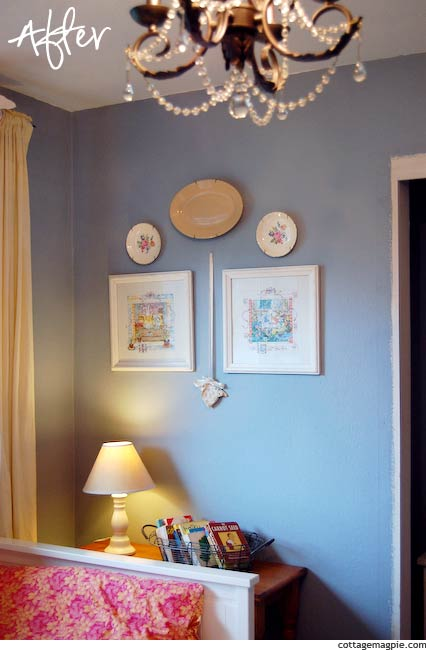 Art Grouping in Baby Girl's Room