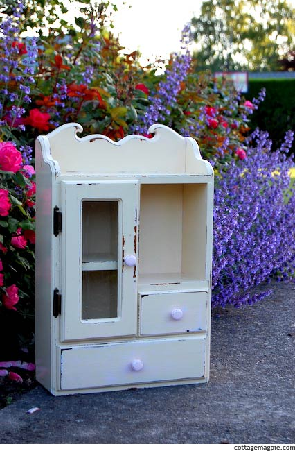 Baby Girl's Tea Cabinet Makeover via cottagemagpie.com