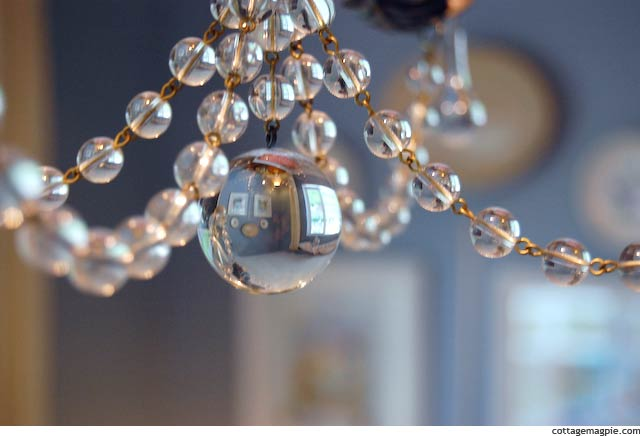 Large Sphere Crystal on Chandelier
