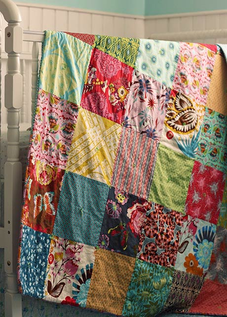 Patchwork Quilt via blueelephantstitches.blogspot.ca