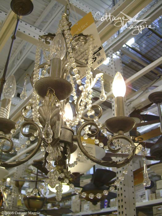 Chandelier at Home Depot
