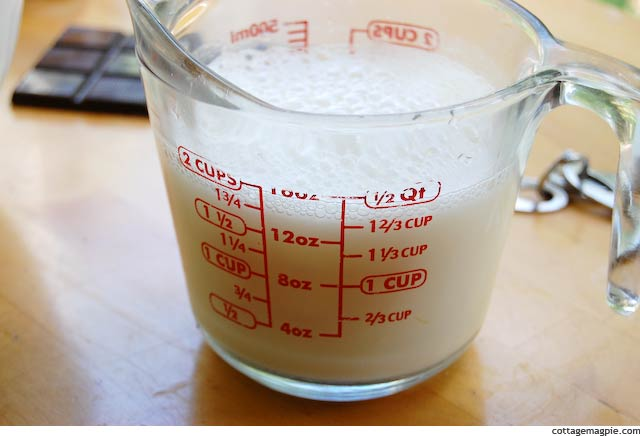 Water Added to Milk and ACV in Liquid Measure