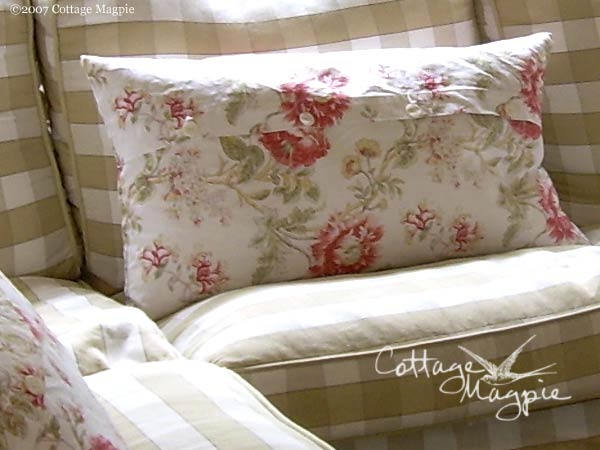 White Floral Pillow Cover