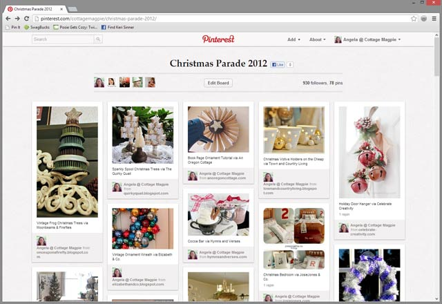 Christmas Parade Shared Pinterest Board via Cottage Magpie