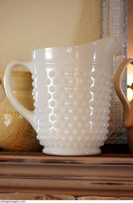 White Milk Glass Pitcher