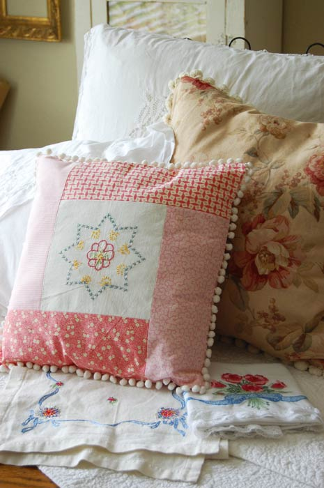 Pillows and Vintage Linens