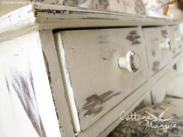 Painted Distressed Shelf