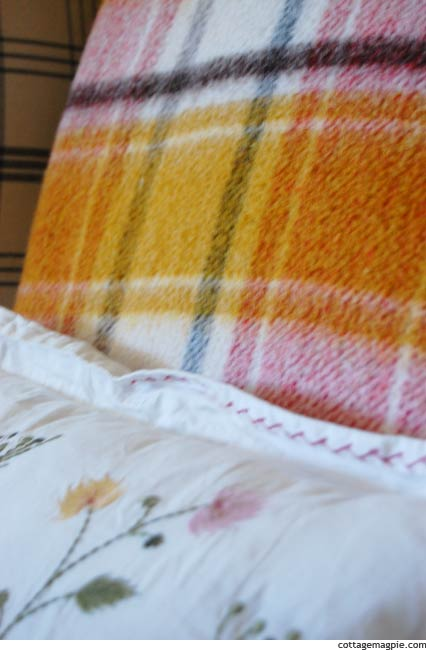 Close-Up of Vintage Blanket