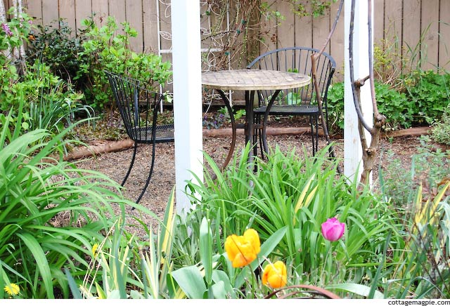 First Garden Cleanup of the Season via cottagemagpie.com
