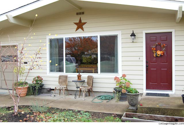Ugly Front Porch at Pear Tree Cottage via Cottage Magpie
