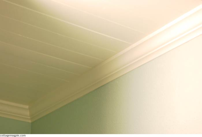 Painted Paneled Ceiling