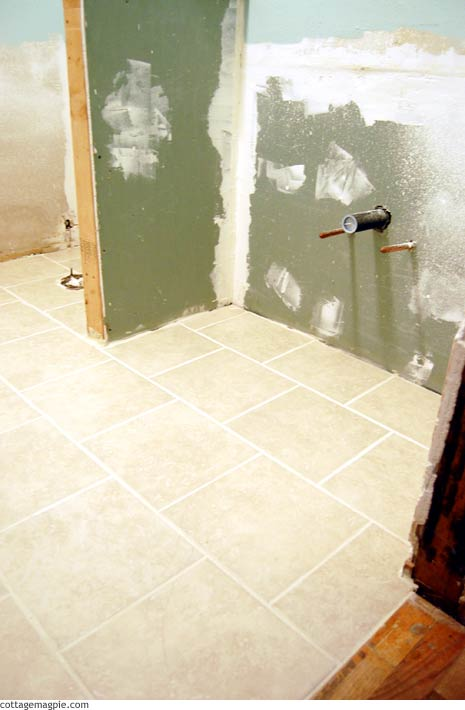 Guest Bath Tile Floor