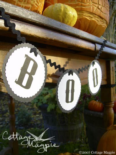 Halloween Boo Garland With Free Clip-Art Letters