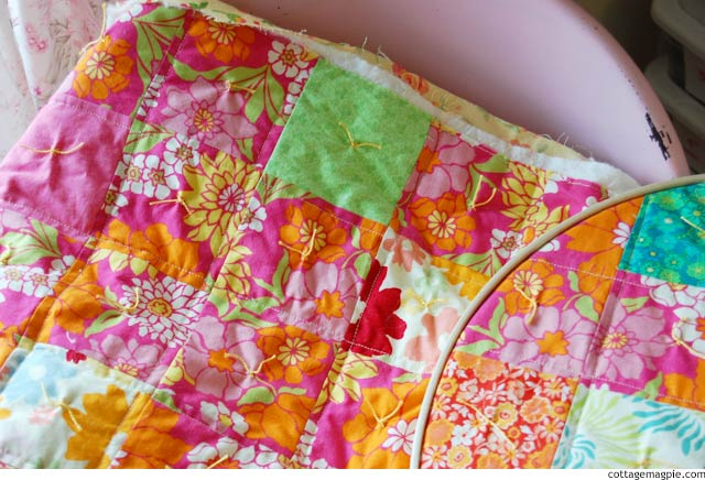 Happy Happy Quilt in the Hoop via cottagemagpie.com