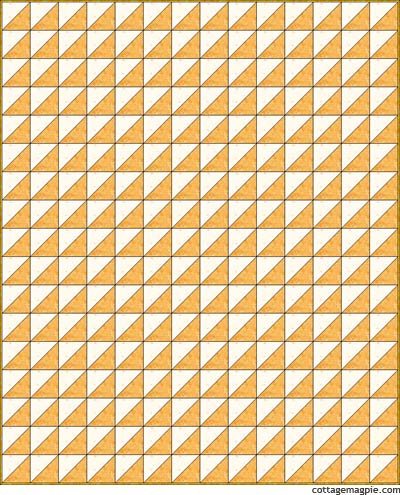 Yellow Triangle Quilt Design EQ5